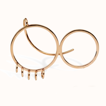 Foyer Crown Hoops Rose Gold