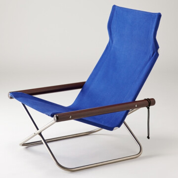 NychairX lounge chair - blue - dark brown