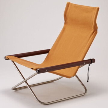 NychairX lounge chair - camel - dark brown