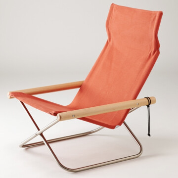 NychairX lounge chair - terracotta - natural