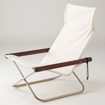 NychairX lounge chair - white - dark brown