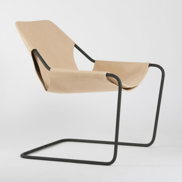 Paulistano armchair / natural leather